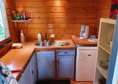 Keuken van trekkershut