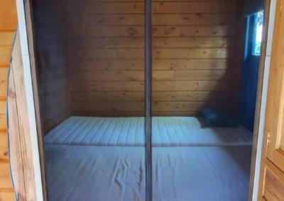 Ingang slaapkamer trekkershut